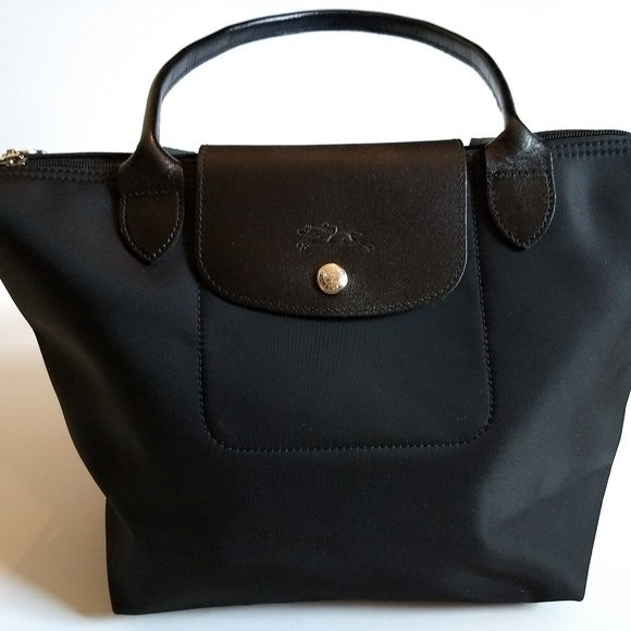 LONGCHAMP MODELE DEPOSE MINI TOTE BAG BLACK NYLON